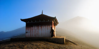 Práctica en niebla de la mañana Imagen de archivo libre de regalías