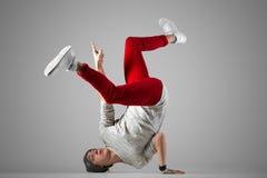 Práctica joven del rotura-bailarín Fotografía de archivo libre de regalías