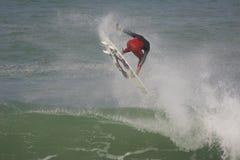 Práctica superior de la persona que practica surf del ASP al Rip Curl favorable 2010 Fotos de archivo libres de regalías