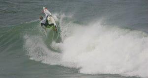 Práctica superior de la persona que practica surf del ASP al Rip Curl favorable 2010 Imágenes de archivo libres de regalías