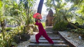 Práctica tailandesa de la ji imagenes de archivo