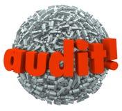 Prácticas de la contabilidad financiera del impuesto del miedo de la ansiedad de la bola de la palabra de la auditoría libre illustration