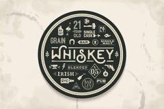 Práctico de costa para la bebida del whisky y del alcohol ilustración del vector