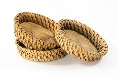 Prácticos de costa de bambú, cestería natural foto de archivo libre de regalías