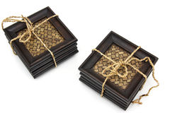 Prácticos de costa de madera para el vidrio Imágenes de archivo libres de regalías