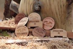 Prácticos de costa hechos de la madera Fotos de archivo libres de regalías