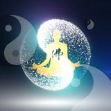 Prática budista ilustração royalty free