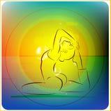 Prática da ioga Imagens de Stock Royalty Free