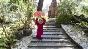 Prática de Tai Chi foto de stock