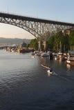 Prática do enfileiramento da união do lago, Seattle, Washington foto de stock royalty free