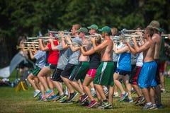 Prática do saxofone Imagens de Stock Royalty Free