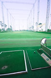 Prática do tiro do golfe Fotografia de Stock Royalty Free