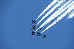 Prática dos anjos de azuis marinhos dos E.U. Pensacola Florida no julho de 2018 Fotos de Stock Royalty Free