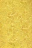 Prägeartige kopierte abstrakte Blumen der Beschaffenheitszitrone Gold Lizenzfreie Stockfotografie