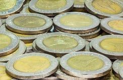 Prägt Thailand Wat Arun Temple in Bangkok, Thailand, dargestellt in der thailändischen zehn-Baht-Münze Stockfoto