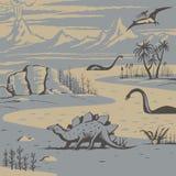Prähistorische Landschaft Stockfoto