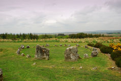Prähistorischer Steinkreis, Nordirland Lizenzfreies Stockfoto