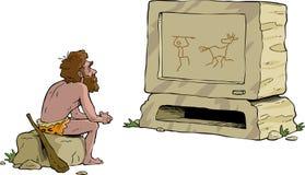 Prähistorisches Fernsehen stock abbildung