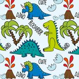 Prähistorisches Muster Dino Friends vektor abbildung