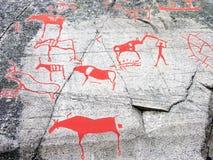Prähistorisches Stein-Schnitzen Lizenzfreies Stockbild