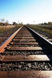 Präriejärnväg till okändan Royaltyfri Foto
