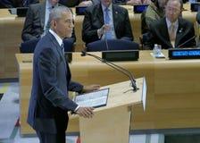 Präsident Barack Obama bewirtete einen Gipfel der Führer auf der globalen Flüchtlings-Krise auf den Rändern von UNGA 71 Lizenzfreie Stockfotos