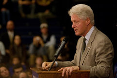 Präsident Bill Clinton Lizenzfreie Stockfotos