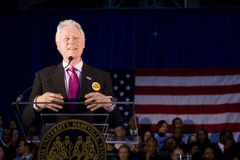 Präsident Bill Clinton, der Rede gibt Stockbild