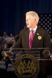Präsident Bill Clinton, der Rede gibt Stockfotografie