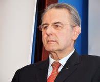 Präsident des IOC Jacques Rogge Stockfoto