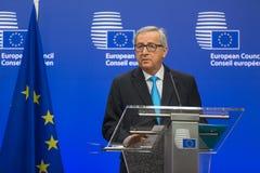 Präsident Jean-Claude Juncker der Europäischen Kommission stockfotos