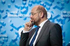 Präsident Martin Schulz des Europäischen Parlaments Lizenzfreies Stockfoto