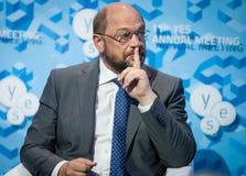 Präsident Martin Schulz des Europäischen Parlaments Stockfotos