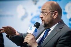 Präsident Martin Schulz des Europäischen Parlaments Stockfoto