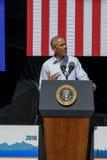 Präsident Obama spricht an 20. jährlichem Lake- Tahoegipfel 18 Stockfoto
