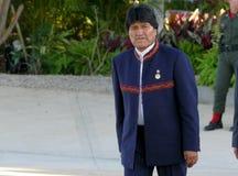 Präsident von Bolivien Evo Morales Lizenzfreies Stockfoto