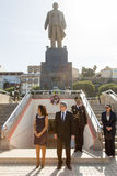 Präsident von Kap-Verde, Jorge Carlos Almeida Fonseca mit Frau Lizenzfreie Stockfotografie