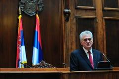 Präsident von Serbien Tomislav Nikolich lizenzfreie stockfotografie