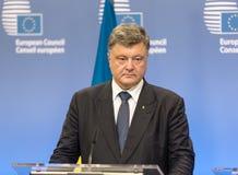Präsident von Ukraine Petro Poroshenko Lizenzfreies Stockbild