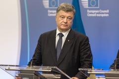 Präsident von Ukraine Petro Poroshenko Stockfotos