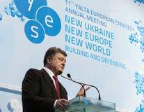 Präsident von Ukraine Petro Poroshenko bei der 11. Jahresversammlung Lizenzfreie Stockbilder