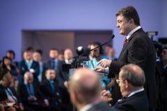 Präsident von Ukraine Petro Poroshenko bei der 11. Jahresversammlung Stockbild