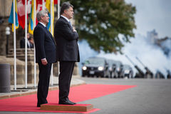 Präsident von Ukraine Petro Poroshenko in Ottawa (Kanada) stockbilder