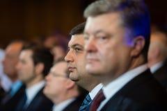 Präsident von Ukraine Petro Poroshenko und Premierminister Vladimi Lizenzfreie Stockbilder