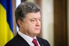Präsident von Ukraine Petro Poroshenko und Vizepräsident von USA Lizenzfreie Stockfotos