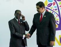 Präsident von Zimbawe Robert Mugabe und venezolanischer Präsident Nicolas Maduro Stockbilder