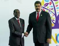 Präsident von Zimbawe Robert Mugabe und venezolanischer Präsident Nicolas Maduro Lizenzfreies Stockbild