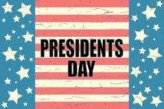 Präsidenten Day auf amerikanischem Hintergrund Stockfotos