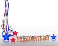 Präsidenten Day Background Border Lizenzfreies Stockfoto