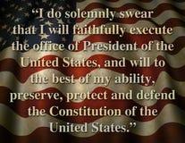 Präsidenteneröffnungseid Vereinigter Staaten Lizenzfreies Stockbild